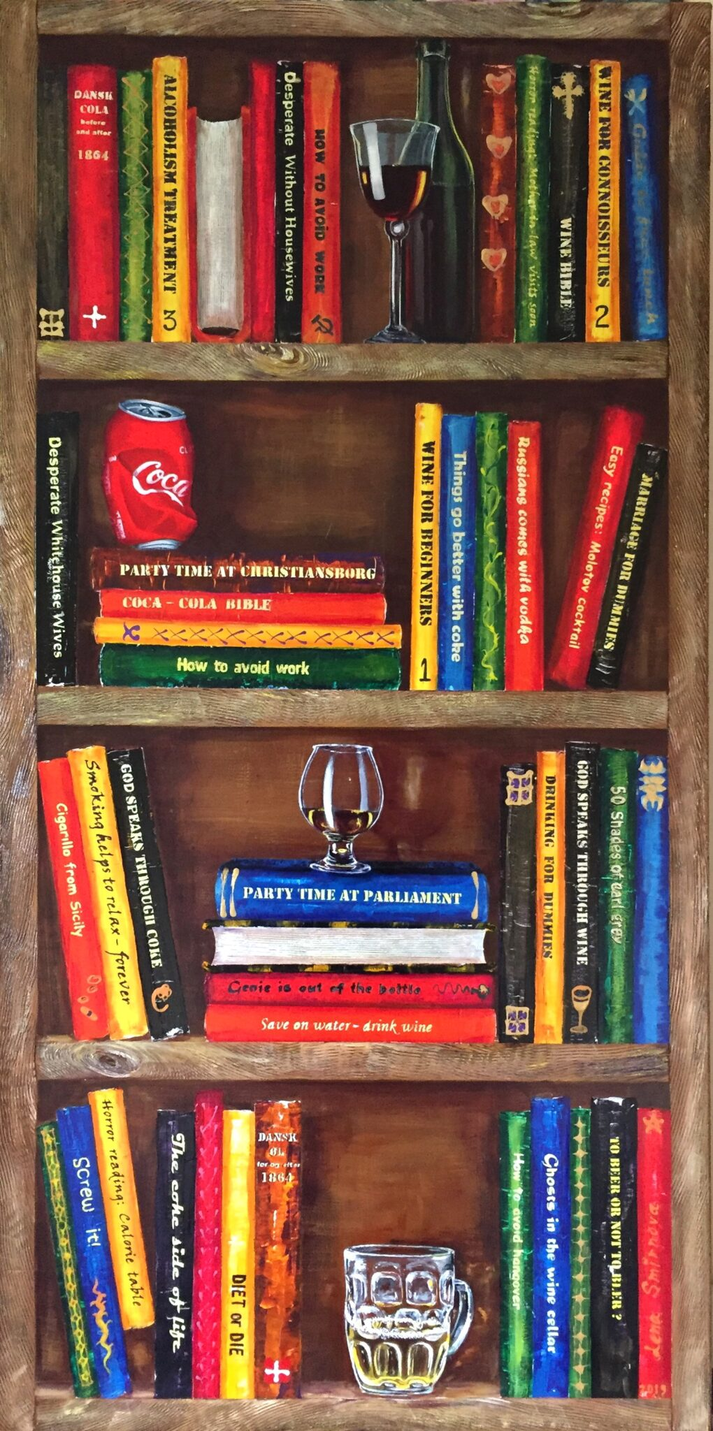 Jeg elsker bøger. Dejligt at hygge sig med en god bog og et godt glas vin eller noget andet.