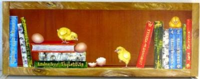 Belæste små kyllinger