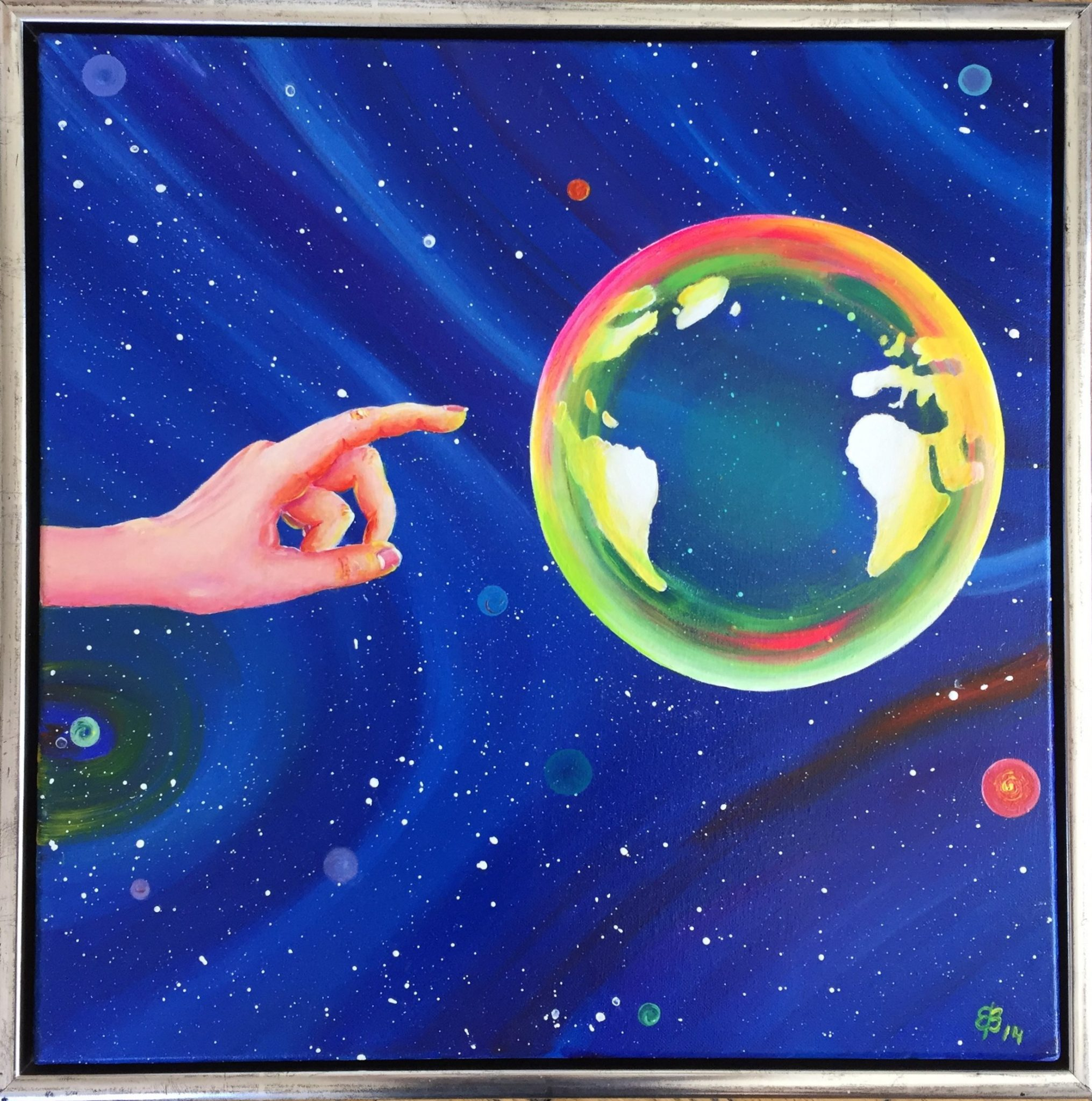 Soap Bubble depicted as our planet Earth