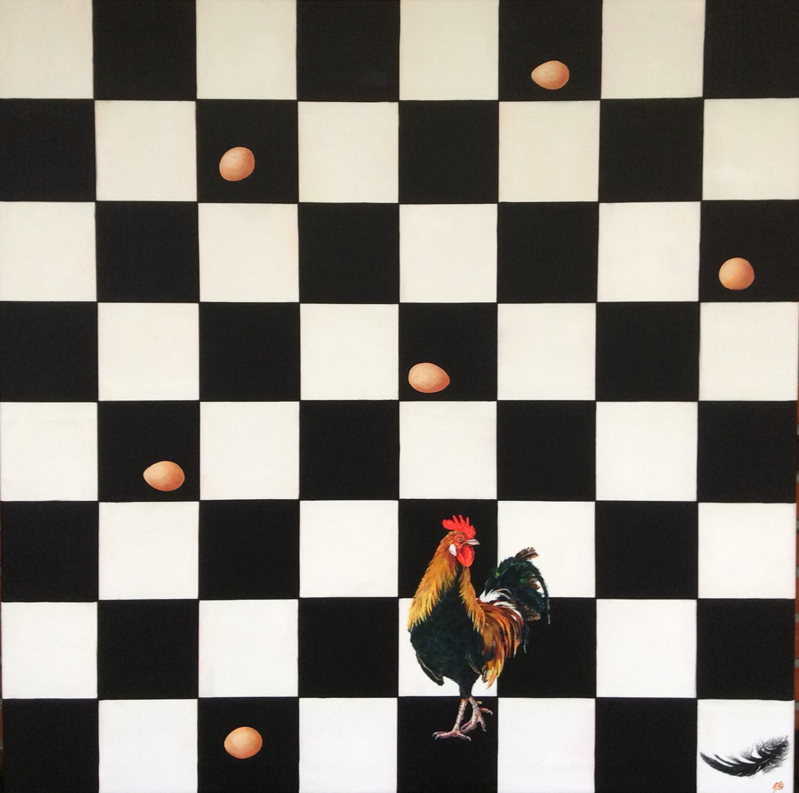 "Checkmate. From the series ""Very lonely cock""."