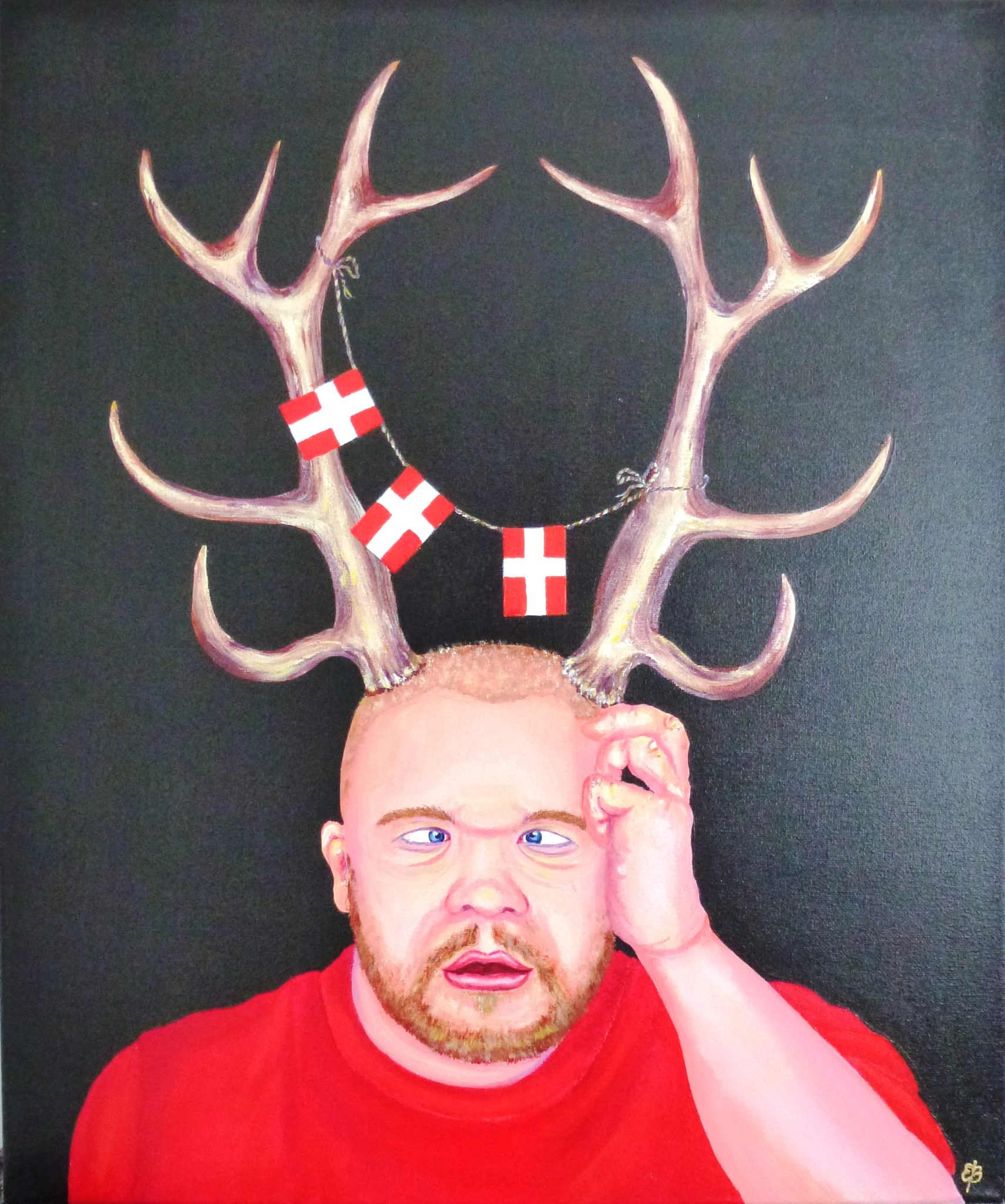 Danish viking acrylic painting