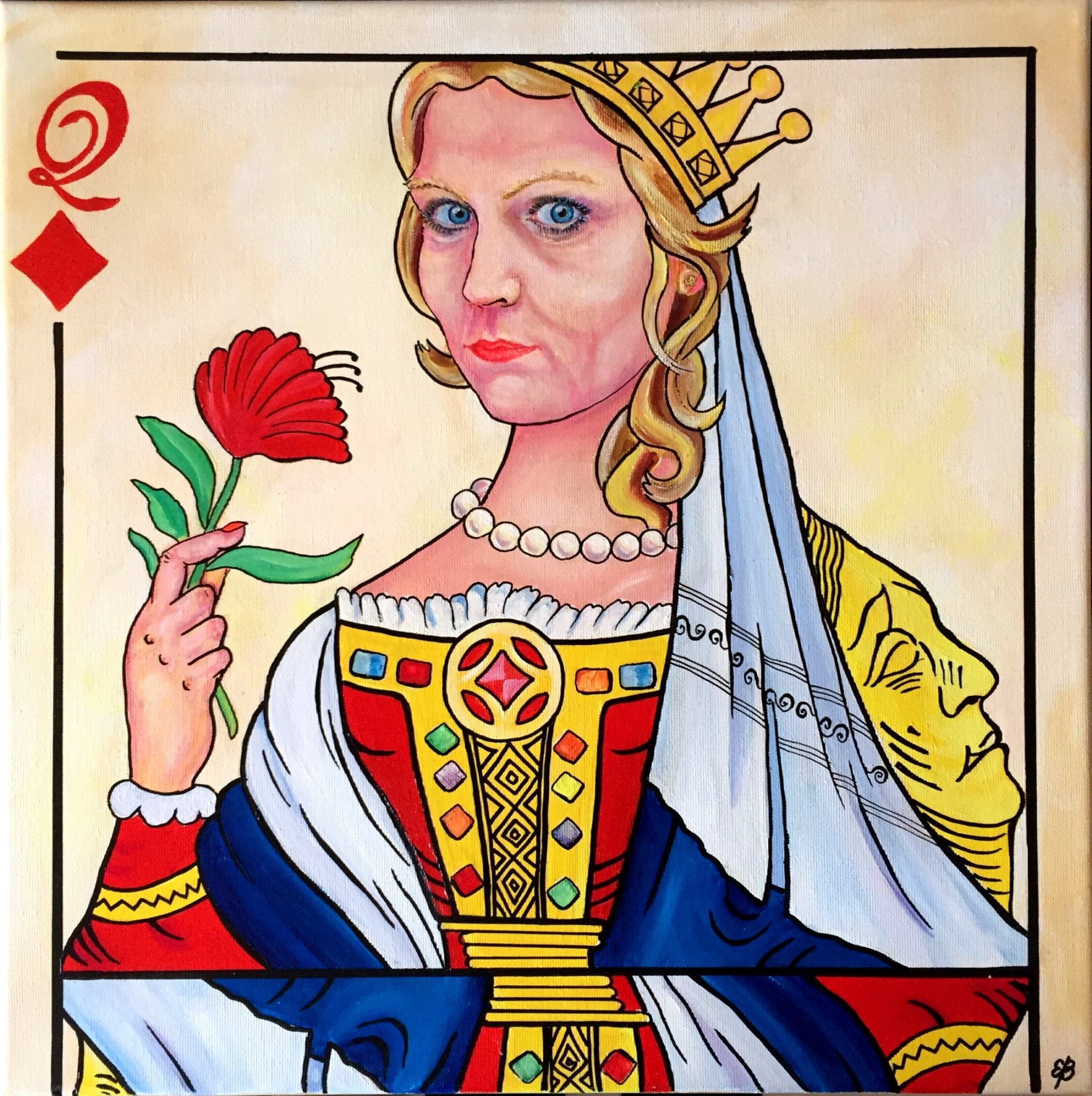 Helle the queen acrylic painting