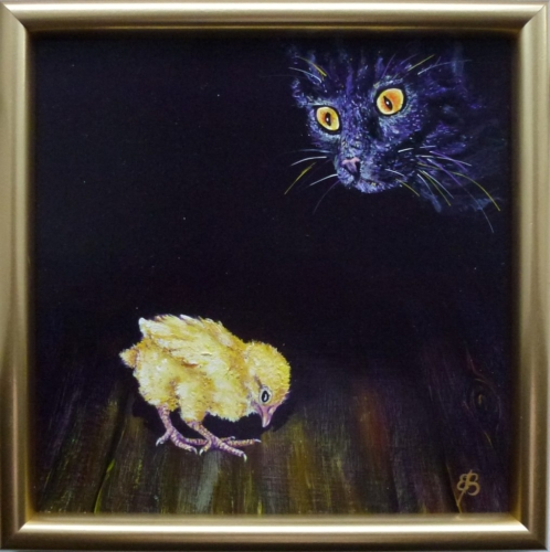 Kat og kylling