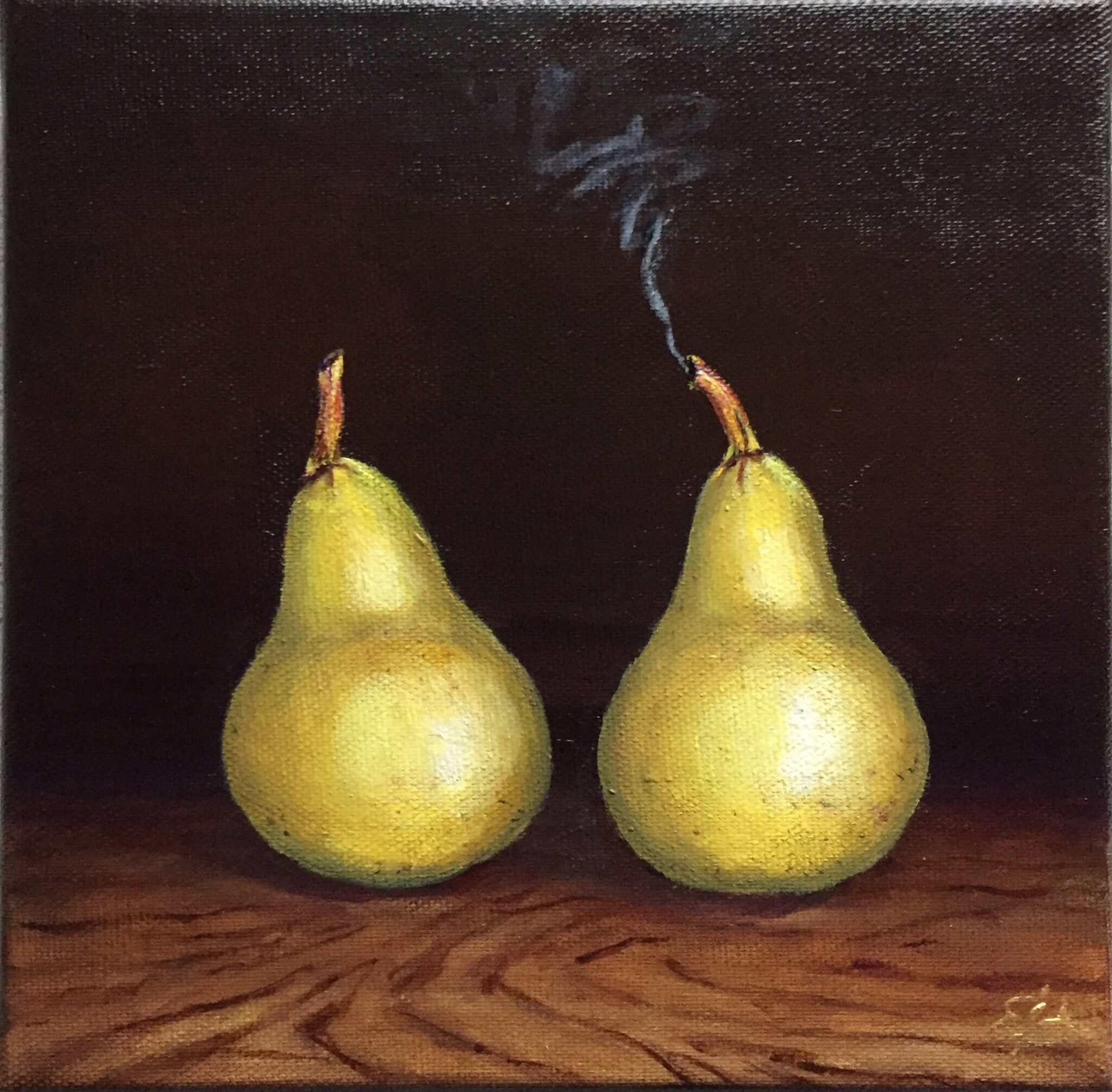 Smoked pears surrealistic