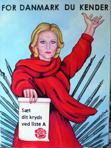 Vote for Helle acrylic painting